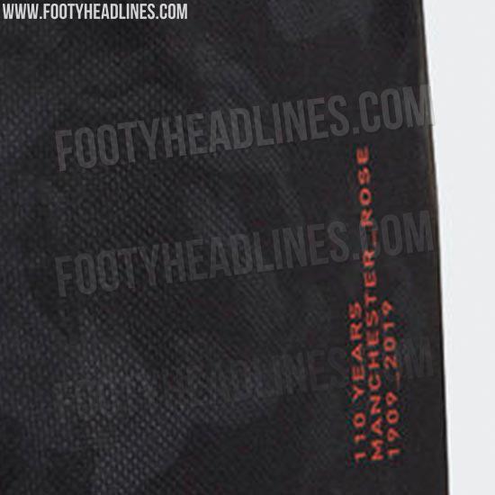 曼联 19-20 赛季第三球衣疑似流出:黑色搭配橙