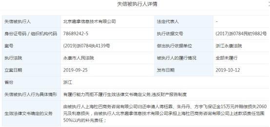 P2P交流-投资理财去哪儿因拒退保证金及利息被浙江永康法院列为老赖理财平台(1)